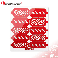 Nail art Accessories Stencil Stickers Professional DIY Nail Polish Nail Sticker Vinyl Stencil