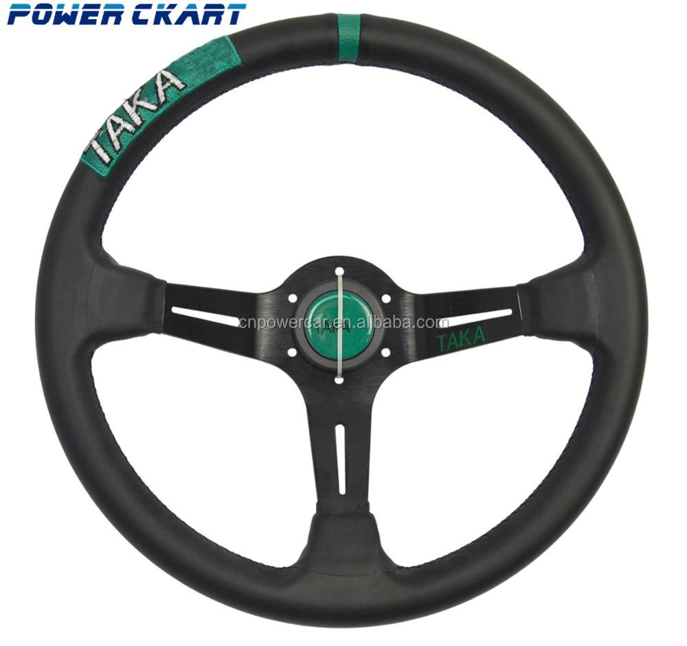 14 Inch Microfiber Leather Steering Wheel JDM Steering Wheel For Raicng Car