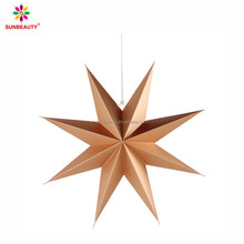 Hot sale 8-angle paper star with hanging design for Christmas decor