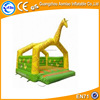Giraffe simple style inflatable jumping bouncer, yellow and green guangzhou inflatable bouncy castle