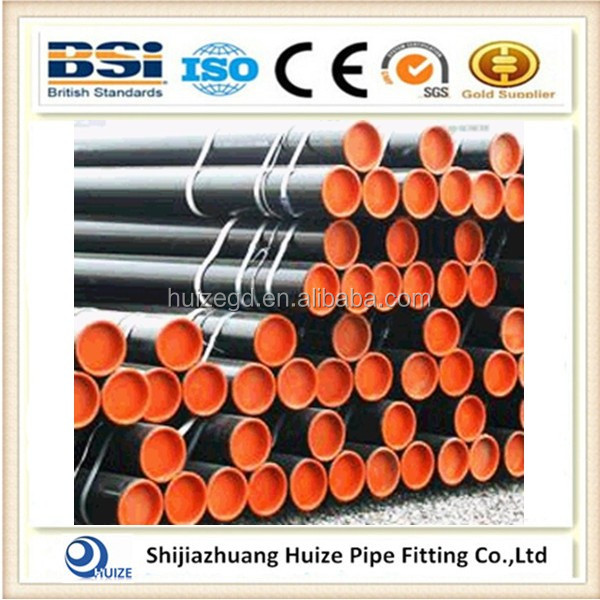 2016 ASTM Black carbon seamless steel pipes / SCH40 Mild carbon seamless Steel Pipe in lower price China manufacturer