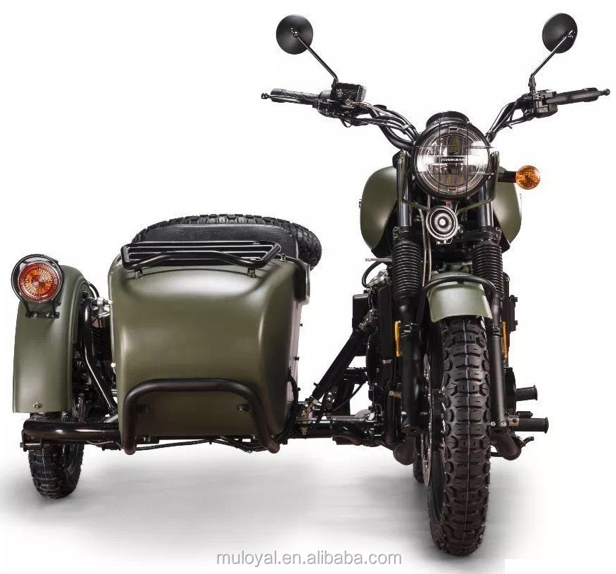 motor 650cc big power side car army style