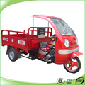 High quality cargo tricycle with cabin, adult motor tricycle