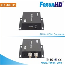 High quality hot sale Foxun SX-SDH1 with looping SDI output Full HD 1080p 3D/SD/HD HDMI converter SDI to HDMI