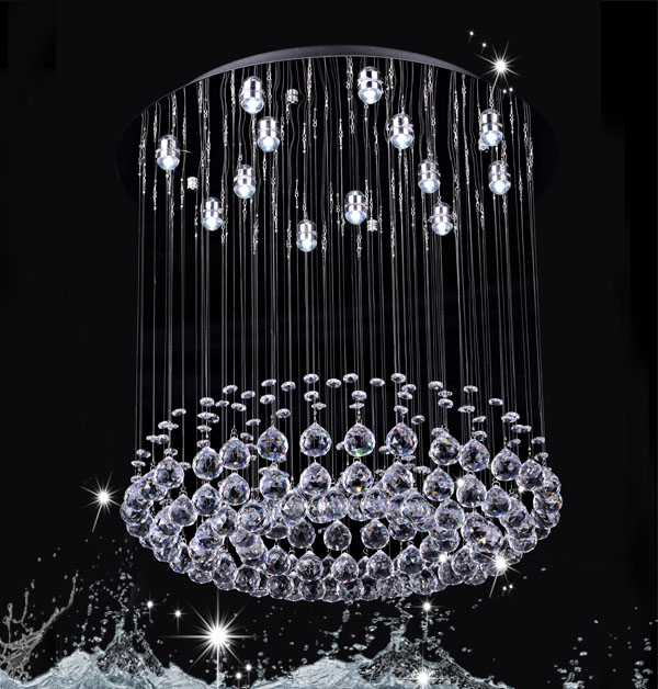 crystal chandelier ornaments DY13014-13 13 lights round crystal lamp China K9 crystal chandelier