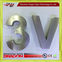 New stainless steel letters and numbers and metal outdoor sign