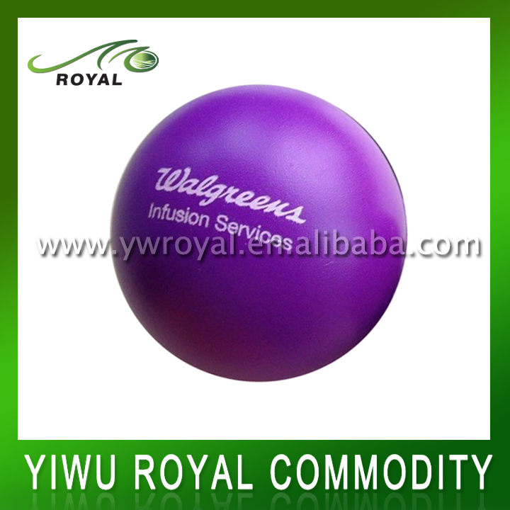 OEM Logo Imprint Purple PU Foam Antistress Ball