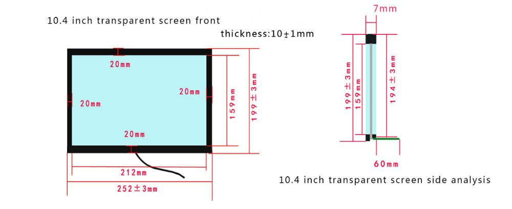 High Quality Cheap Transparent Lcd Panel / Transparent Lcd Touch Screen / Transparent Display