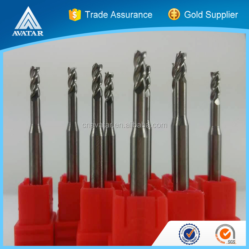 Avatar Tools tungsten solid carbide upcut spiral flute end mill for CNC machines