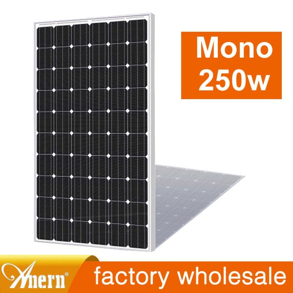 low price and MOQ 5w to 300w mono crystalline solar panel