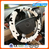 Good Quality Winter heated Fur Car Steering Wheel Cover