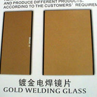 Welding Glass In Gold Coated