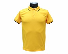Samiker 100% polyester 140g yellow short sleeve men polo shirt