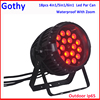 Outdoor Waterproof Stage Zoom Effect 18x15W 6in1 RGBWA+ UV ip65 led par zoom