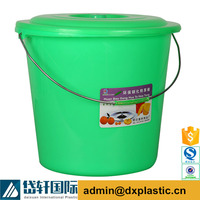 plastic heavy duty industrial water bucket with rope handle