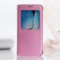 2015 new arrival original flip cover for samsung galaxy s6 leather window case wholesale