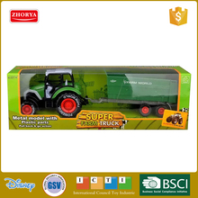 Hot sale farm world super metal model farm truck with plastic parts pull back and go action die cast sets