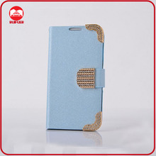 RF Manufacturer Luxury Glitter Stand Magnetic Wallet Flip Diamond Bling Leather Case for Samsung Galaxy S4 I9500