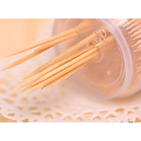 wholesale bamboo wood toothpicks packed by bottle, opp bag or bulk packaging
