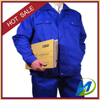 65% 35% polyester cotton blue uniform woven fabric factory price