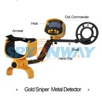 gold detecting machine deep earth metal detector