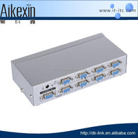 DK5008 8 port 500MHz vga splitter suitable for wide screen LCD display and big screen LCD TV