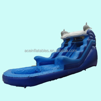 hot sale dolphin inflatable water slide
