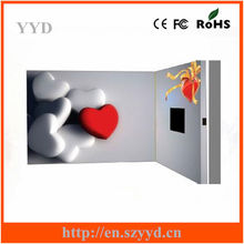 LCD Video Card With High Quality as Wedding Invitation