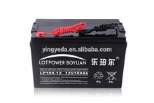 deep cycle battery powered solar super power 12v 100ah battery operated flood lights lead acid solar battery china factory