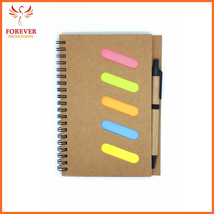 Cheap Custom Logo Jotter 18*12.7CM Eco Jotter Notebook With Spiral Binding With Sticky