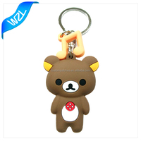 Custom 3D soft PVC rubber keychain
