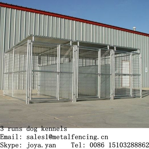 1.5x2.9x1.8mx3 runs dog run kennels steel structure dog runs 4.5x2.9x1.8m large dog playing house