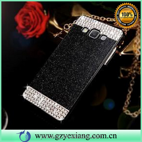 Mobile phones accessories acrylic cover case for Samsung galaxy note 4 glitter hard back cover