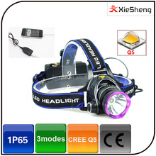 Cree Q5 led 3 mode 300 Lumen 18650 battery waterproof zoomable led camping headlamp