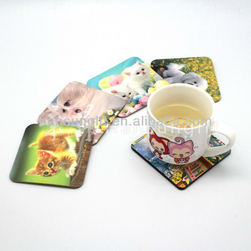 2013 newest design soft pvc rubber/cork coaster
