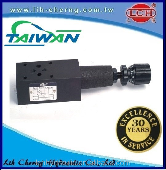 Direct type hydraulic relief valves for oil hydraulic use made in Taiwan