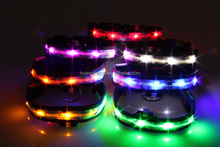 2015 new styles flashing led collar for dog ,led usb rechargeable dog collars
