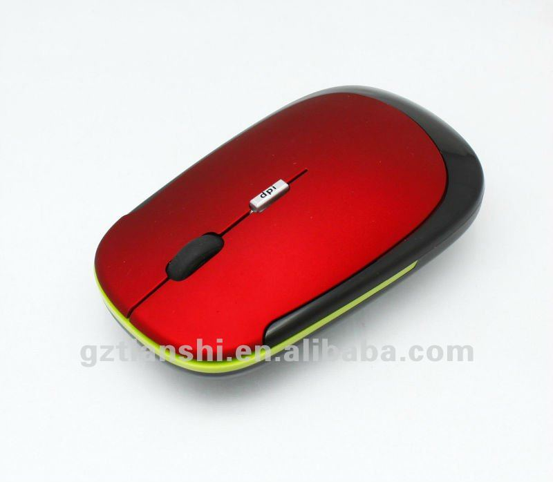 2012 hot selling cheapest colourful 3D USB wireless computer optical mouse with mini receiver