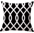 New Black and White Geometric 45*45cm Cushion Cover
