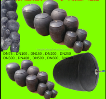 2016 years inflatable water block sell to laos/inflatable rubber pipe plugs