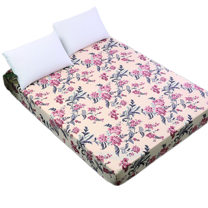 Custom Printed Bed Sheets Bed Bug Mattress Cover With Elastic Band