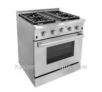 Heavy duty free standing industrial gas burner range with oven