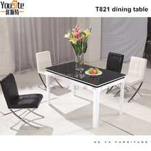 space-saving dining set diningt able set with 6 chairs T821