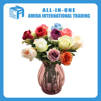 Artificial home decorative flower, Italy rose high simulation