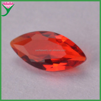 guangxi wuzhou wholesale aaa marquise cut colored glass names dark red gemstones