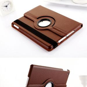 Cheap 360 Degree Rotating Flip Stand Leather Case fo Pro 10.5 Inch iPadnch Coffee Black for iPad air mini 2 3 4 Case Cover