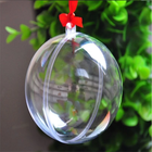 Openable transparent plastic ball, opened transparent hollow half ball, christmas ball decoration