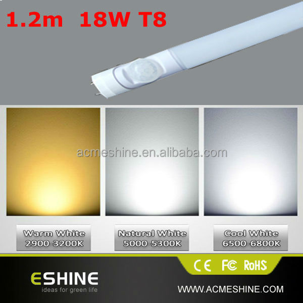 T8 3 years warranty 180VAC-250VAC 50/60Hz Microwave motion sensor Led Tube,price led tube light t8