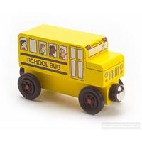 Wooden Toy School Bus Mr. Rogers