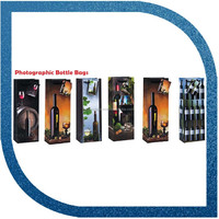Cheap wine paper bag , small wine bag with photograph printed